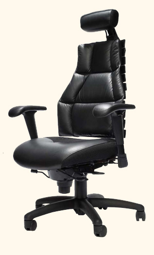 archive verte ergonomic executive leather office chair indoff